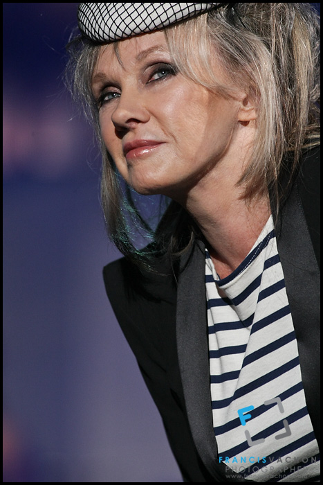 "Diane Dufresne performs at the ""Paris-Quebec"" show of the 44th Festival d'été de Quebec on the Plains of Abraham in Quebec city Thursday July 7, 2011."