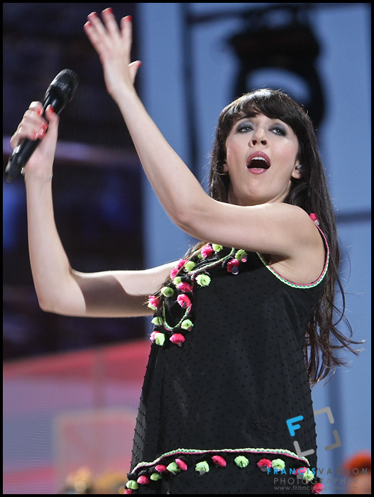"Nolwenn Leroy performs at the ""Paris-Quebec"" show of the 44th Festival d'été de Quebec on the Plains of Abraham in Quebec city Thursday July 7, 2011."