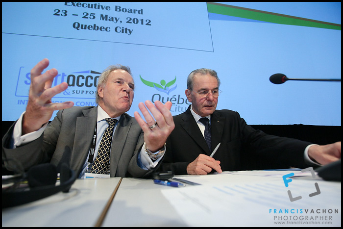 Denis Oswald and Jacques Rogge