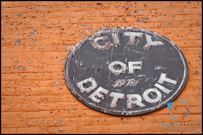 Decaying 1971 City of Detroit crest