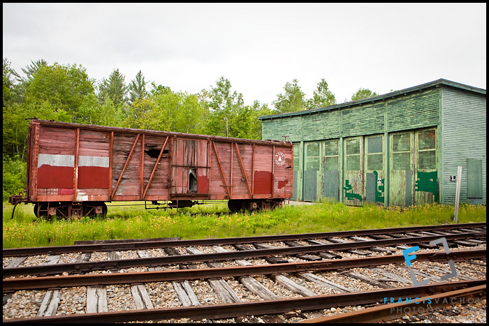 Railroad car of the Maine Central Railroad Company