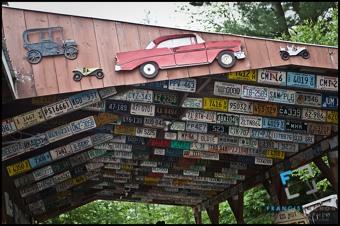 License plates from various US states