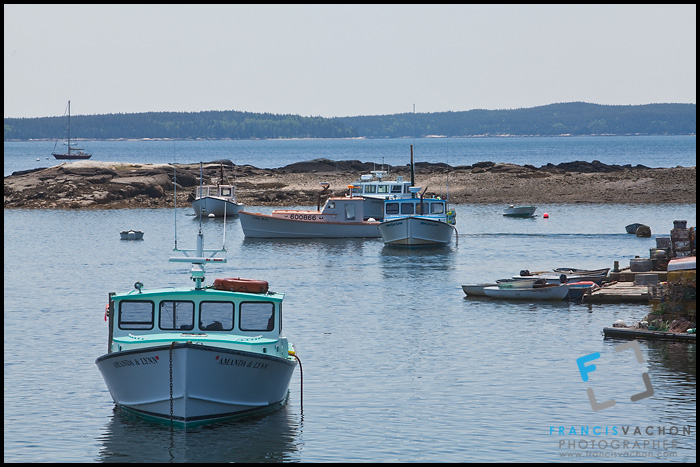 Lobster fishing vessels in Tremont, Maine