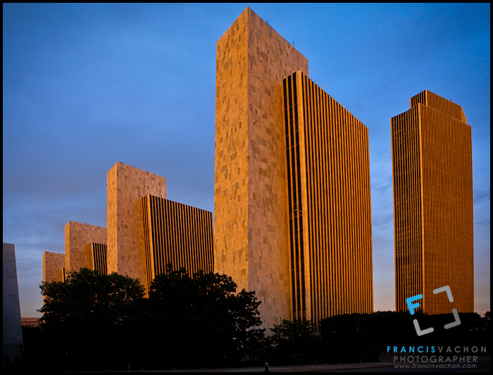 Empire State Plaza' Agency buildings and the Erastus Corning Tower in Albany