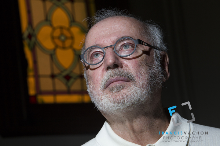 Ghislain Leblond poses in is house in Quebec City Thursday May 29, 2014.  A retired civil servant who suffers from a degenerative disease similar to Lou Gehrig's disease, Ghislain Leblond co-founded the Collectif mourir digne et libre, a group in favour of euthanasia.